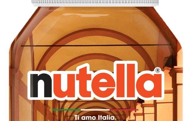 I portici di Bologna sui barattoli di Nutella